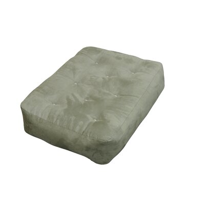 4 Cotton Ottoman Size Futon Mattress Upholstery: Sage