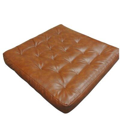 8 Cotton Loveseat Size Futon Mattress Upholstery: Saddle Brown
