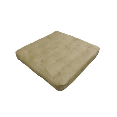 Cotton Loveseat Futon Mattress Upholstery: Chocolate