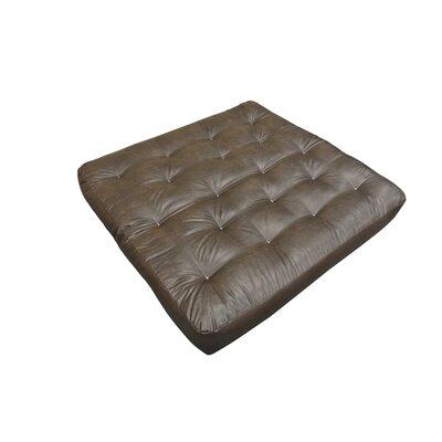 9 Foam and Cotton Loveseat Size Futon Mattress Upholstery: Dark Brown