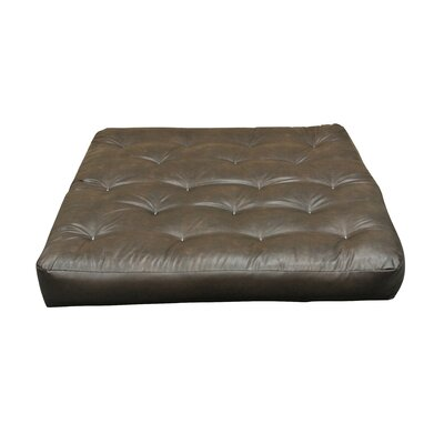 Moon Light 9 Cotton Loveseat Size Futon Mattress Upholstery: Dark Brown
