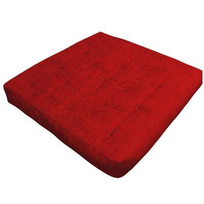 9 Foam and Cotton Loveseat Size Futon Mattress Upholstery: Burgundy