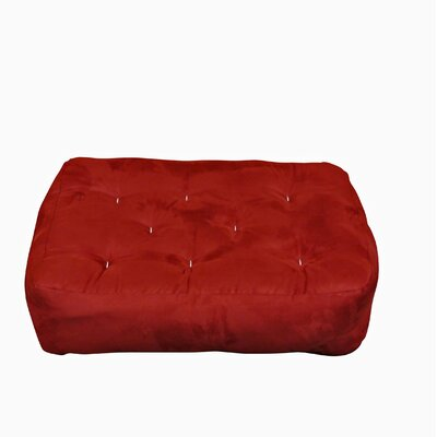 9 Foam and Cotton Ottoman Size Futon Mattress Upholstery: Burgundy