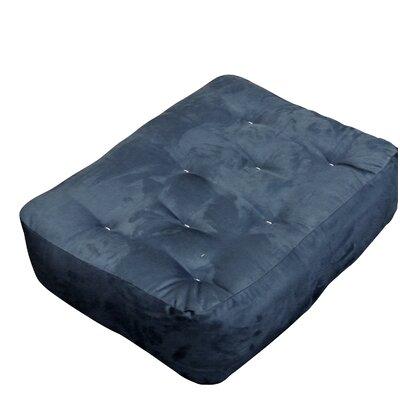 9 Foam and Cotton Ottoman Size Futon Mattress Upholstery: Blue