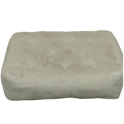 9 Foam and Cotton Ottoman Size Futon Mattress Upholstery: Tan