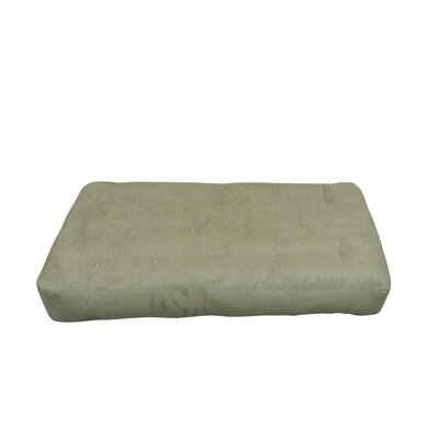 9 Foam and Cotton Chair Size Futon Mattress Upholstery: Sage