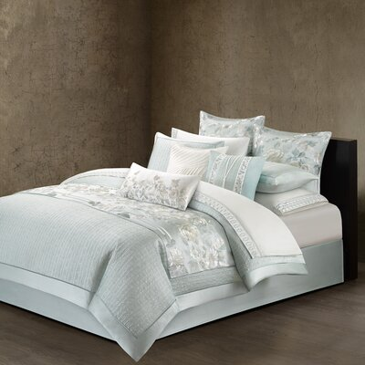Canton Quilted Duvet Cover Size: King