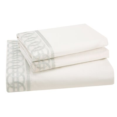 Canton 200 Thread Count Cotton Sateen Flat Sheet Size: King