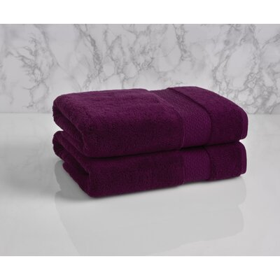 Dynasty Bath Towel Color: Plum Cassis