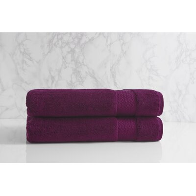 Dynasty Bath Sheet Color: Plum Cassis