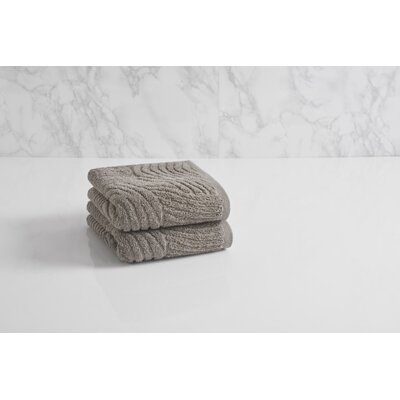 Dynasty Wave Textured Jacquard Hand Towel Color: Cloud