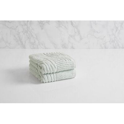 Dynasty Wave Textured Jacquard Hand Towel Color: Porcelain