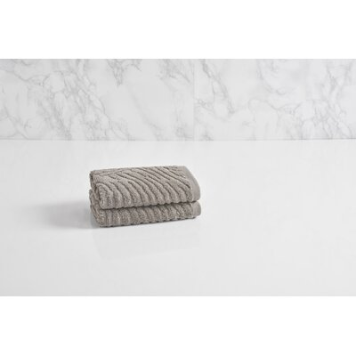 Dynasty Wave Textured Jacquard Wash Cloth Color: Cloud