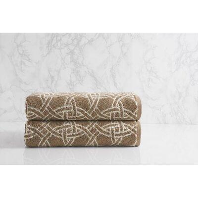 Dynasty Medallion Jacquard Bath Towel Color: Chantarelle/Chalk