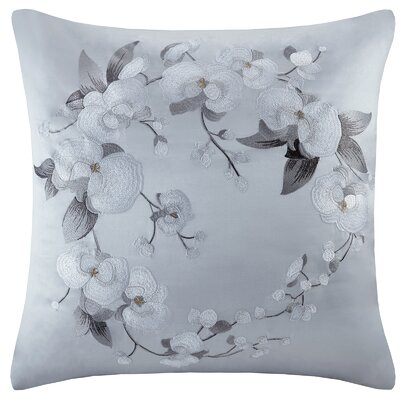 Orchid Silk/Cotton Embroidery Sham