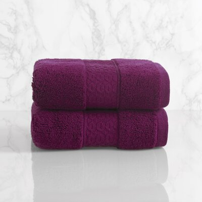 Dynasty Hand Towel Color: Plum Cassis