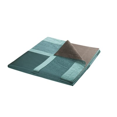 Potala Palace Duvet Collection in Teal and Espresso Bean Chocolate
