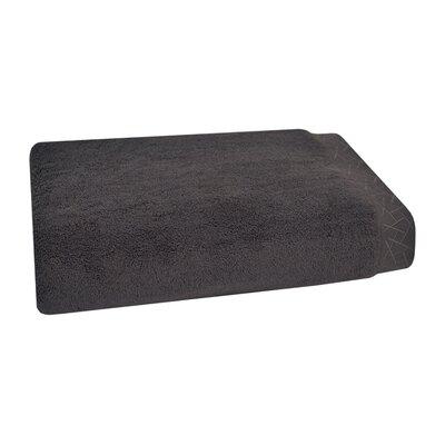 Fretwork Bath Towel Color: Dark Smoke