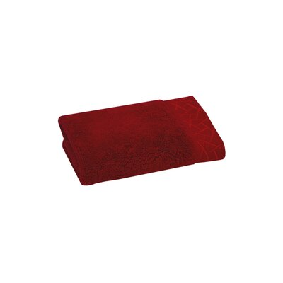 Fretwork Washcloth Color: Imperial Red