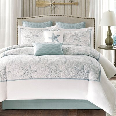 Maya Bay 4 Piece Comforter Set Size: King