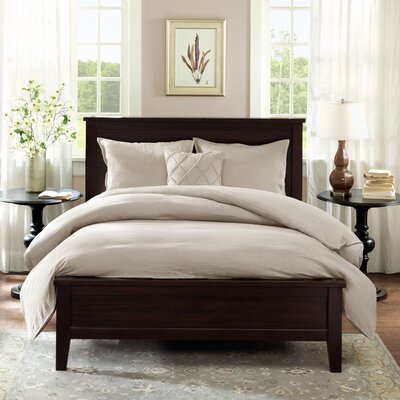 Marlon 3 Piece Reversible Duvet Cover Set Size: Full/Queen, Color: Linen