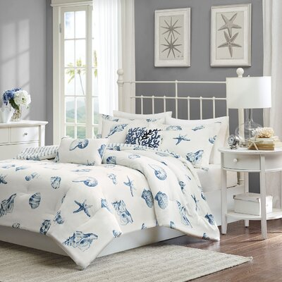 Beach House 3 Piece Duvet Set Size: King