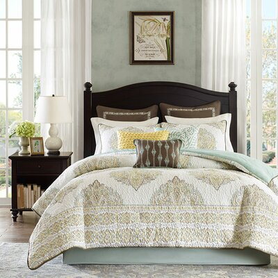 Miramar 4 Piece Reversible Comforter Set Size: California King