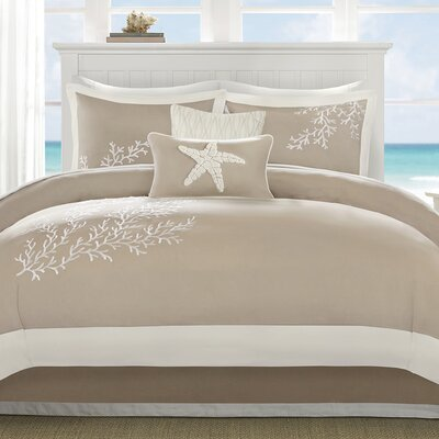Coastline 6 Piece Comforter Set Size: King
