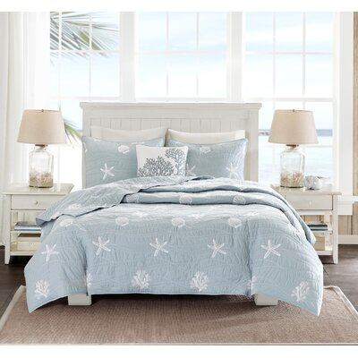 Seaside 4 Piece Queen Coverlet Set Size: Full/Queen