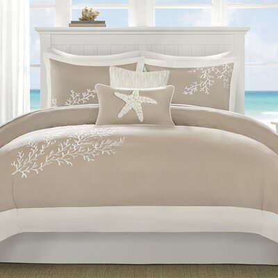 Coastline 3 Piece Duvet Cover Set Size: King/Cal King, Color: Khaki