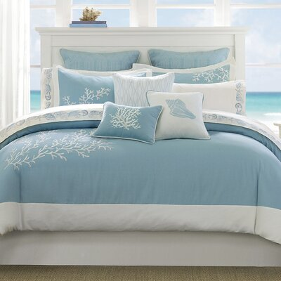 Coastline 3 Piece Duvet Cover Set Size: King/Cal King, Color: Aqua
