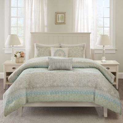 Adeline 5 Piece Queen Duvet Cover Set Size: King / California King