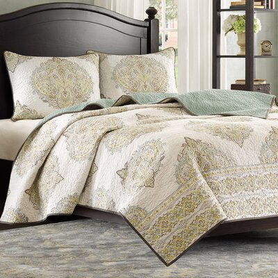 Miramar Cotton Coverlet Size: King