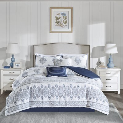 Sanibel 6 Piece Comforter Set Size: Queen