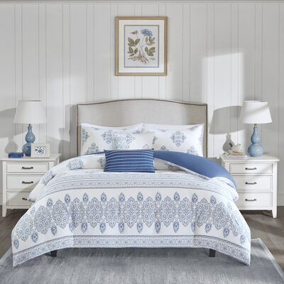 Sanibel 5 Piece Duvet Cover Set Size: Full/Queen