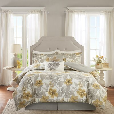 Gabrielle Cotton 6 Piece Comforter Set Size: Queen
