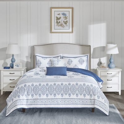 Sanibel 5 Piece Coverlet Set Size: Full/Queen