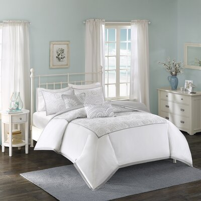 Cranston 5 Piece Duvet Cover Set Size: King