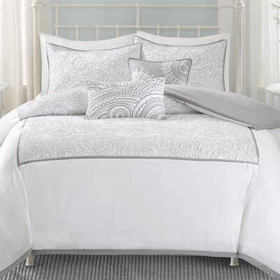 Cranston 5 Piece Duvet Cover Set Size: Full/Queen