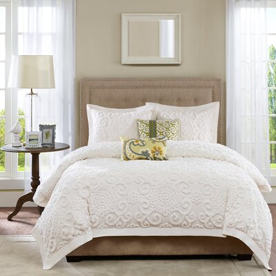 Suzanna 3 Piece Reversible Duvet Cover Set Size: Full/Queen