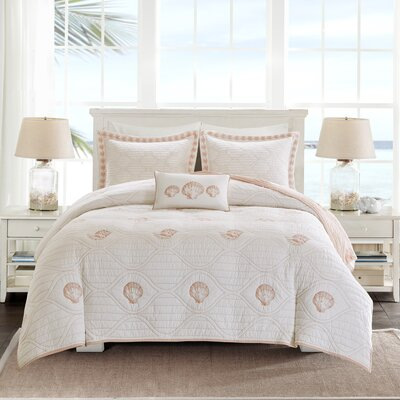 Seaside 4 Piece Coverlet Set Size: Full/Queen