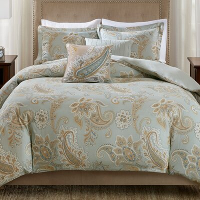 Sienna 5 Piece Duvet Cover Set Size: Full/Queen