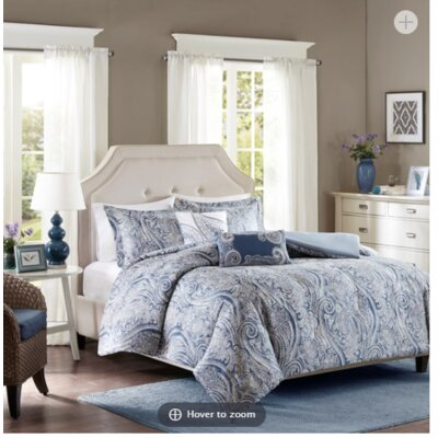 Stella 5 Piece Duvet Cover Set Size: King