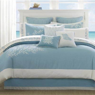 Coastline Reversible Comforter Set Size: Queen