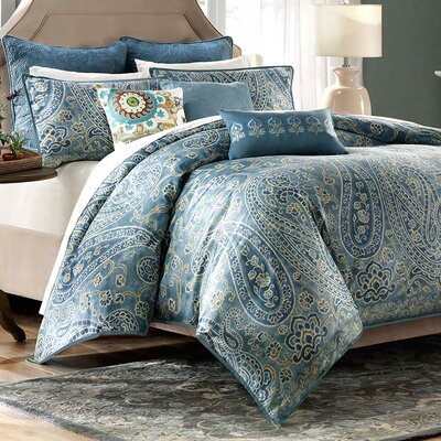 Belcourt 3 Piece Reversible Duvet Set Size: Full/Queen