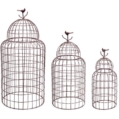 3 Piece Wire Decorative Bird Cage Topper Set 62269