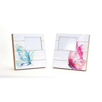 2 Piece Butterfly Picture Frame Set 66512