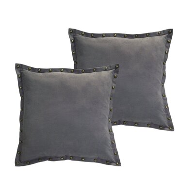 Studded Trim Throw Pillow Color: Dark Gray