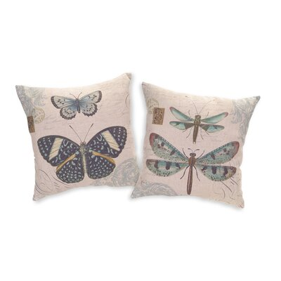 Butterfly/Dragonfly 2 Piece Throw Pillow Set
