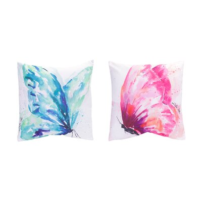 2 Piece Butterfly Throw Pillow Set